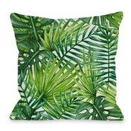 Palm Leaf Throw Pillow