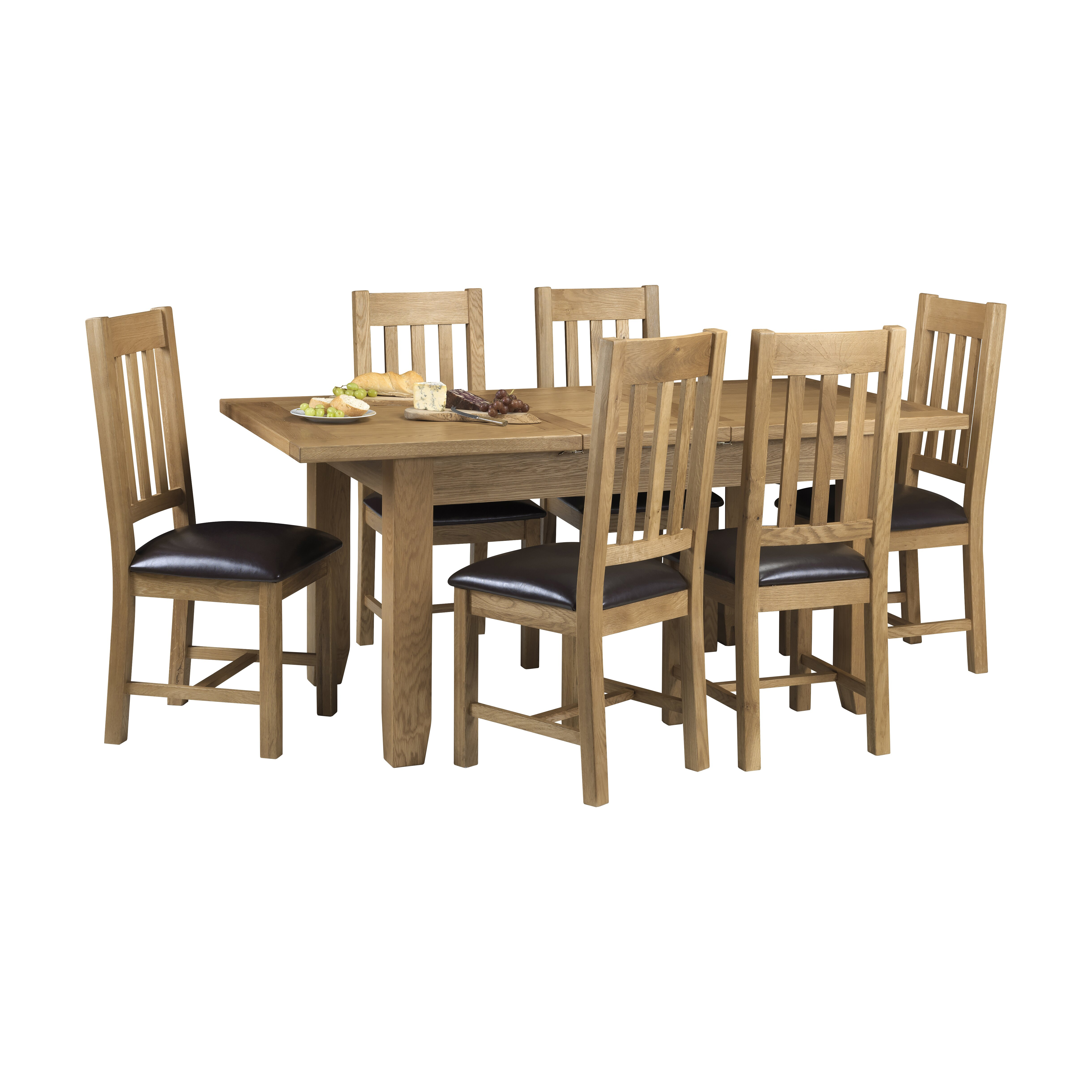 Square extendable dining room table