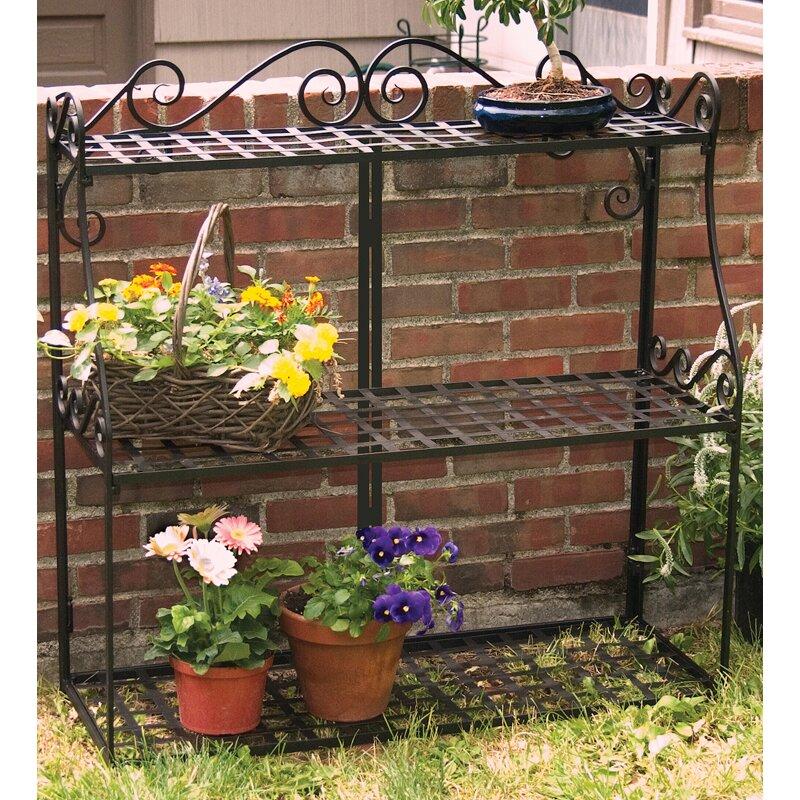 Фото полок из металла под цветы