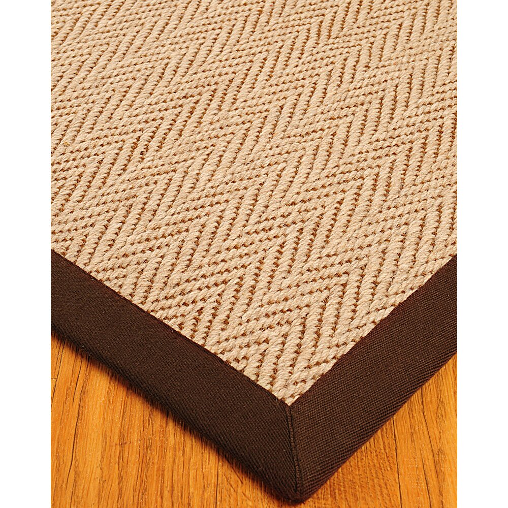 Cream and brown area rug