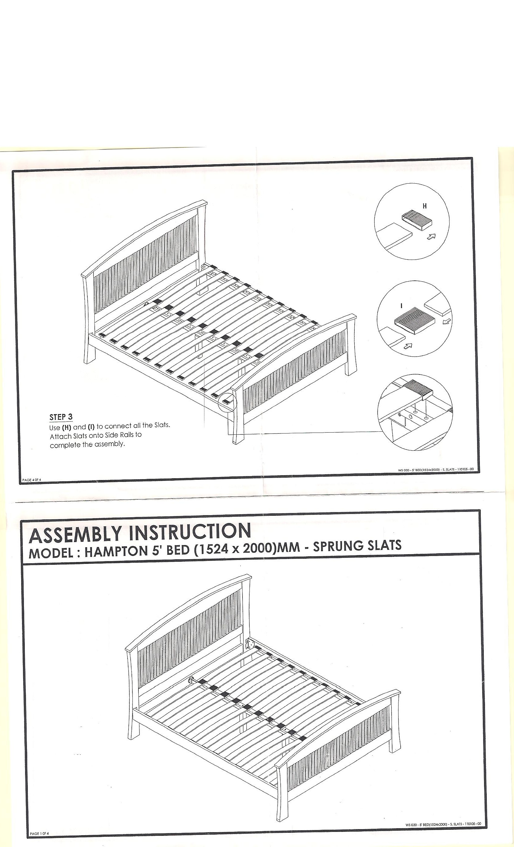 mantua bed frame assembly instructions