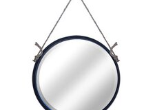 Metal Round Rope Hanging Mirror