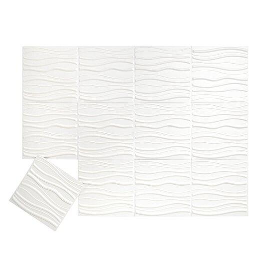 Embossed Tile Wallpaper Embossed 12-piece Tile