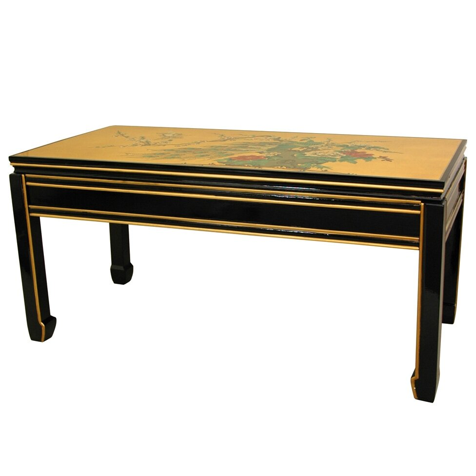 Gold Leaf Coffee Table Gold Leaf Coffee Table