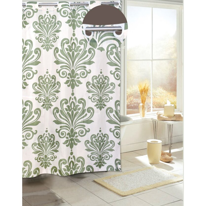 Carnation Home Fashions Shower Curtains Carnation Home Fashions EZ On