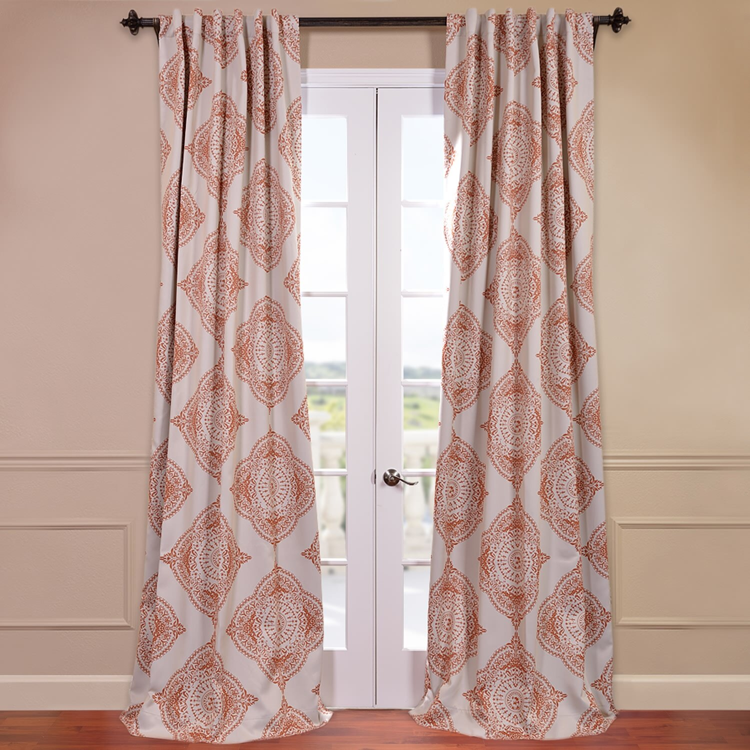 Black And White Color Block Curtains Black and White Damask Pattern