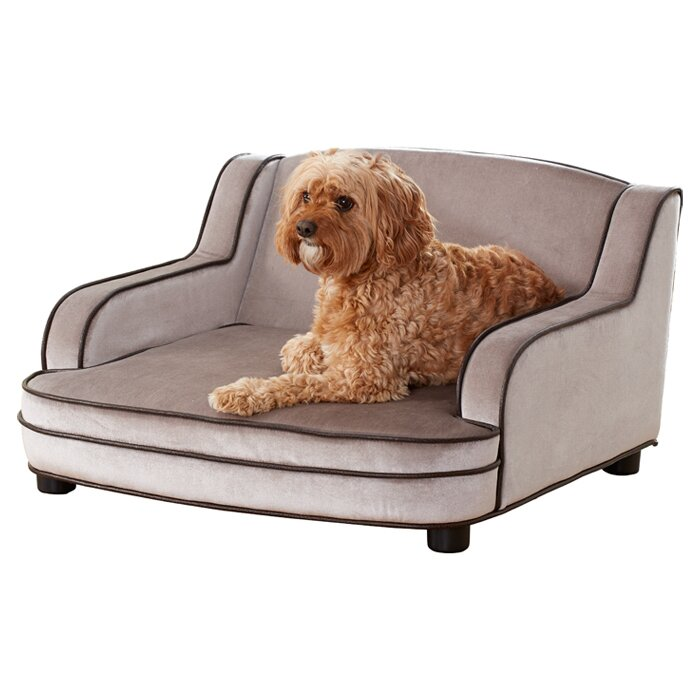 Cameron Upholstered Dog Couch Bed For Family Room
