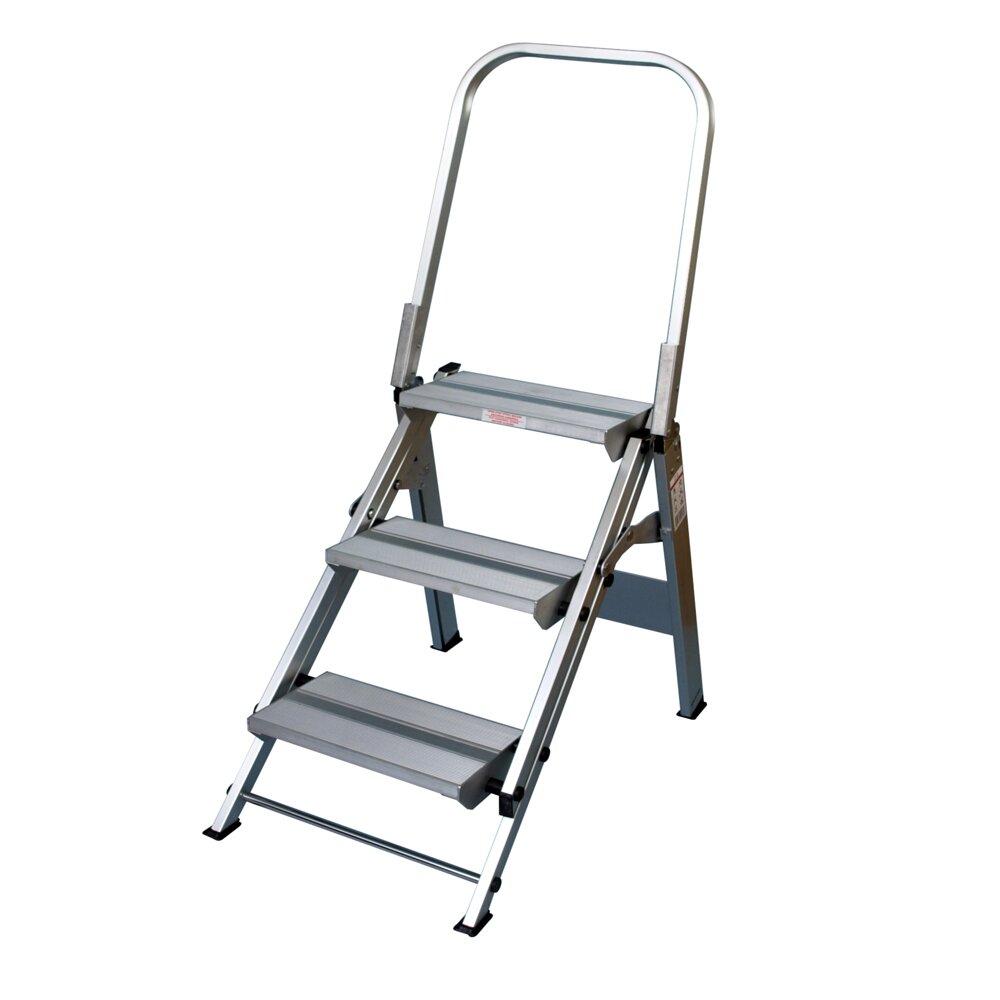 Safety Step Stools 3-step Aluminum Folding Safety