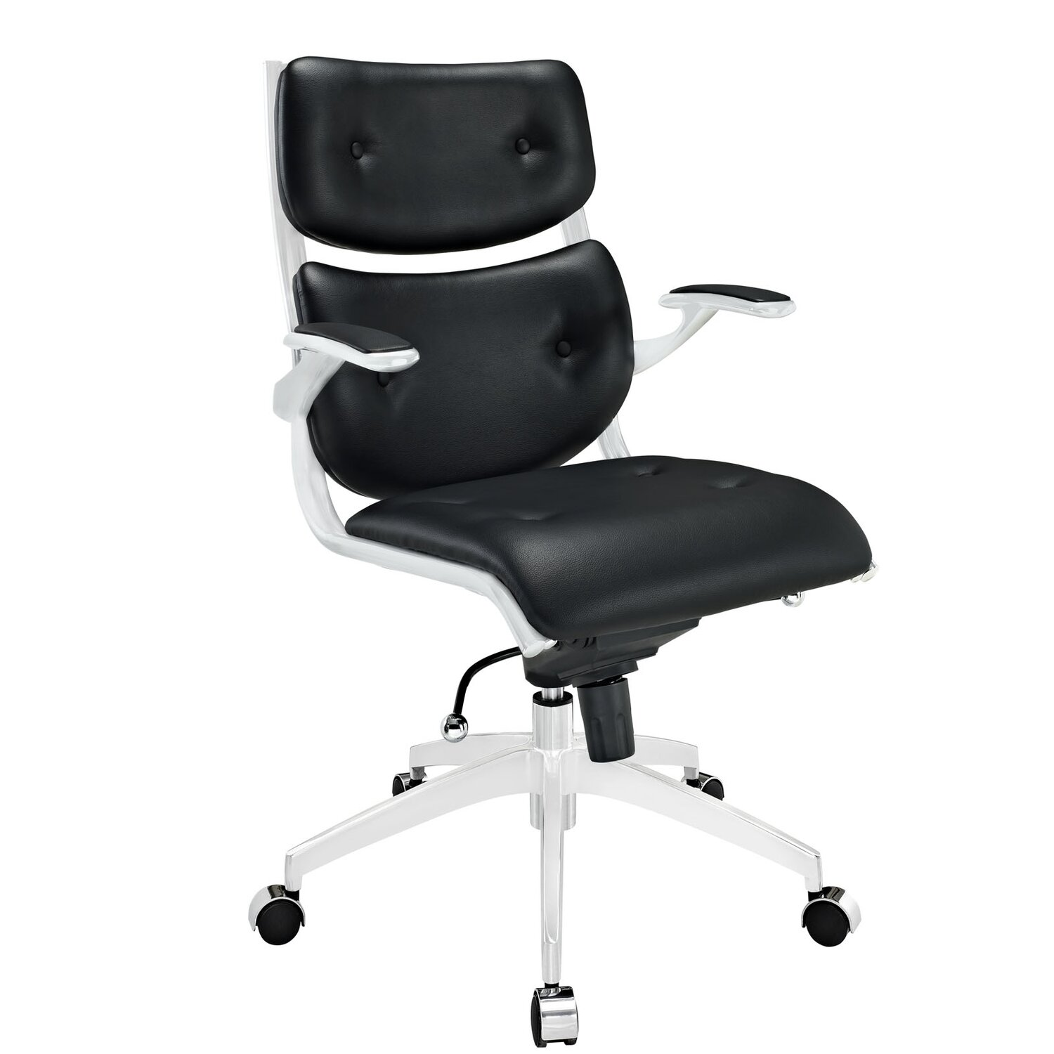 Compact Office Chair Push Mid-back Office Chair by