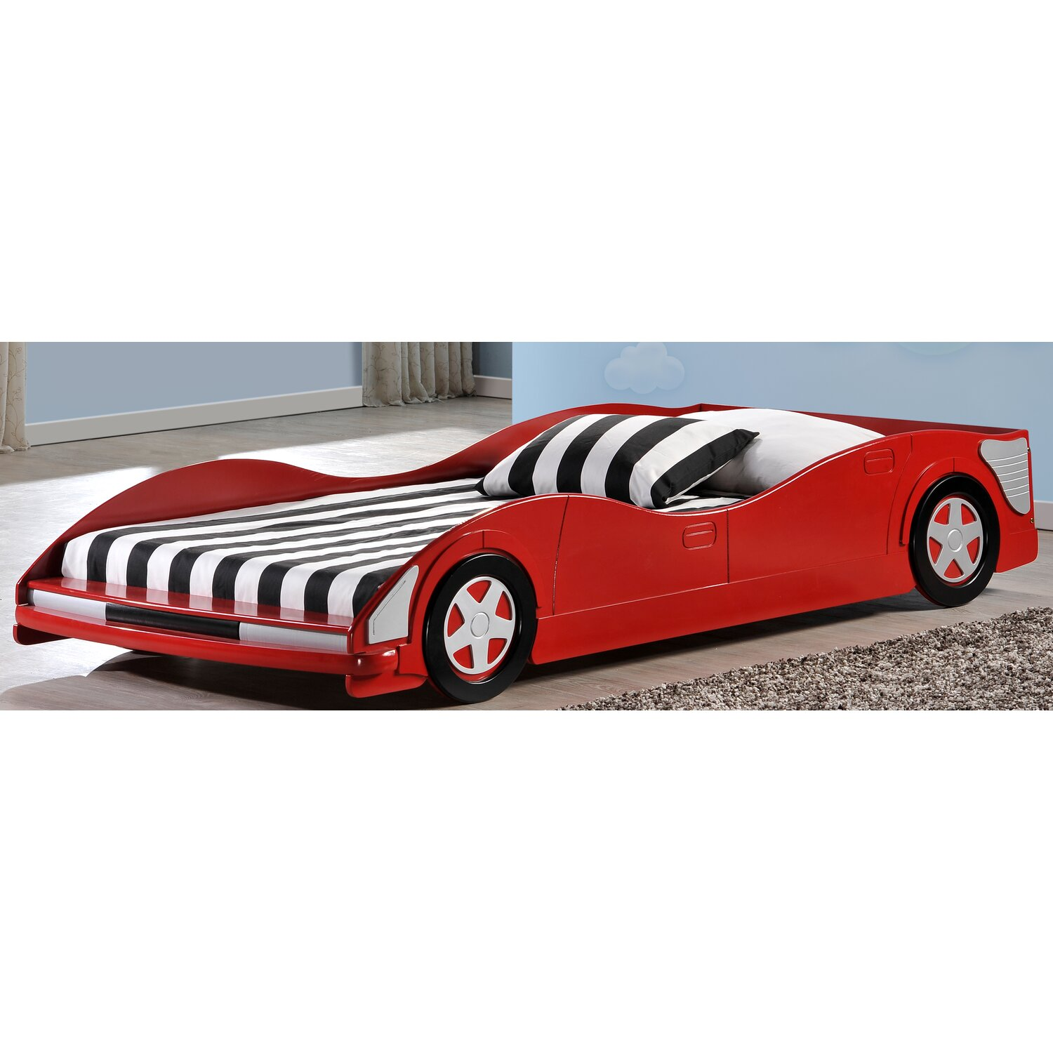 Racing Car Beds For Kids Donco Kids Twin Race Car Bed