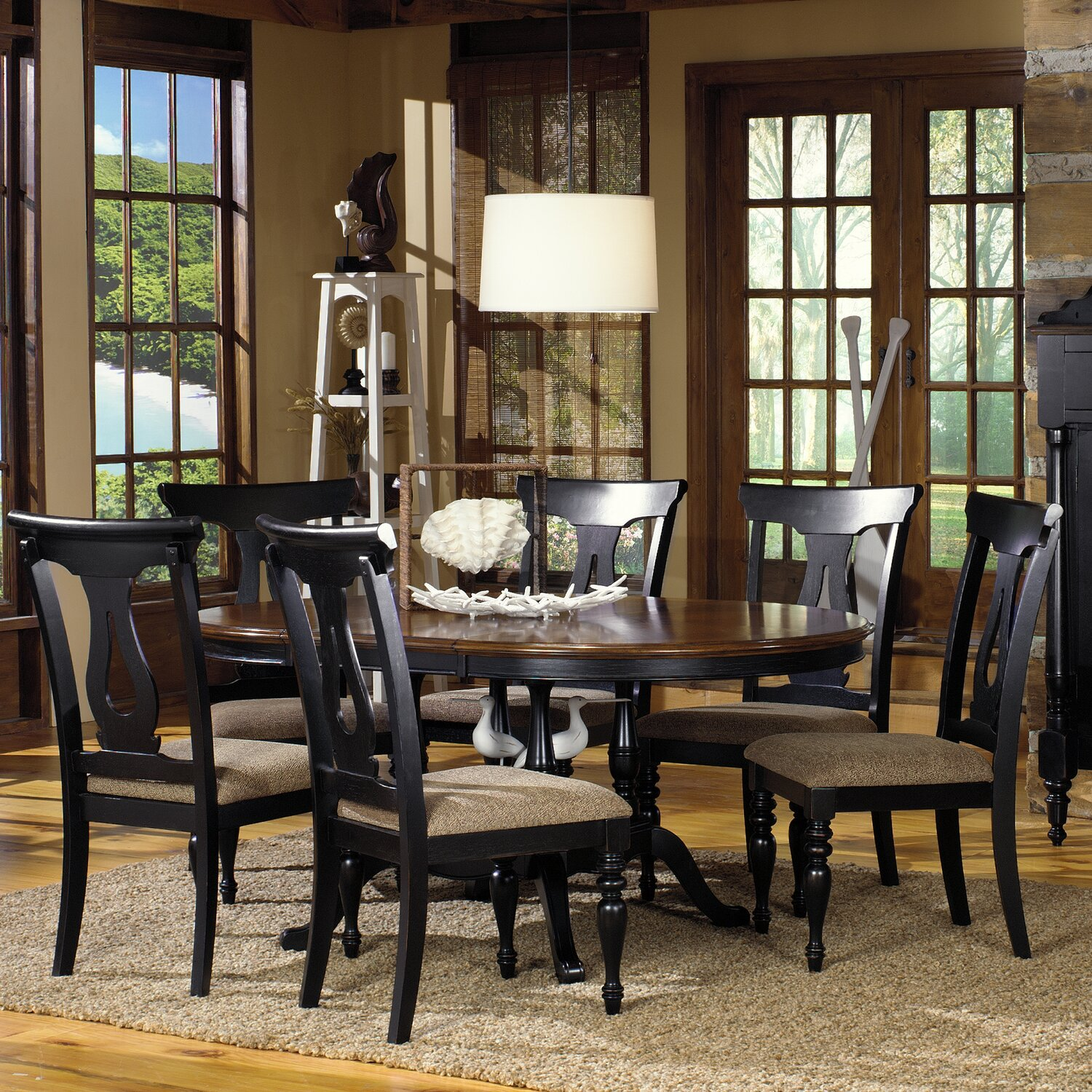 Dining Table With 8 Fabric Chairs 9Pcset Bellagio Collection Best Size Of Dining Room Table For 10 Design Inspiration