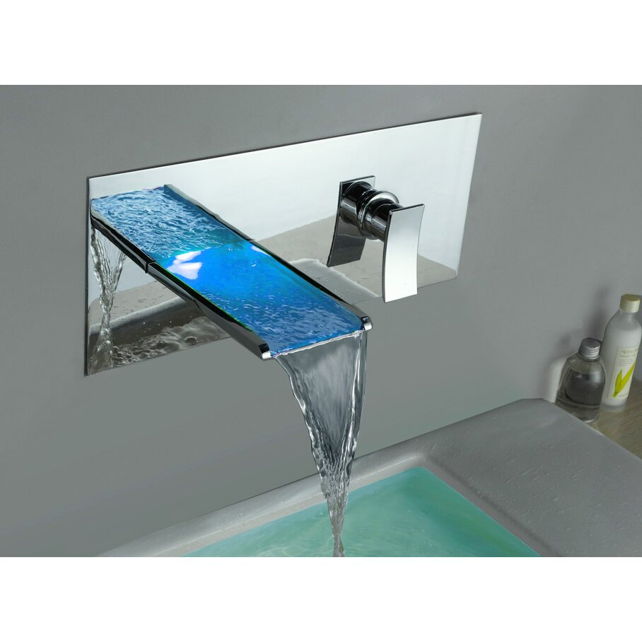Bathroom Sinks Faucets yodel waterfall faucets for clear glass basin & bathroom sink