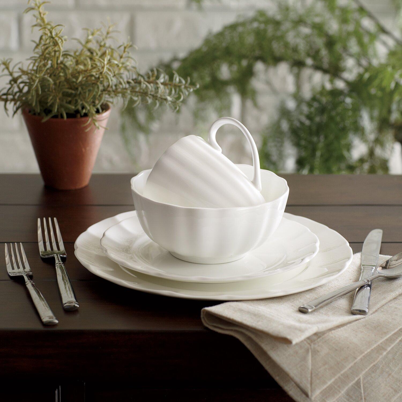 Quality China Dinnerware American Atelier Scallop Piece Dinnerware Set Rb