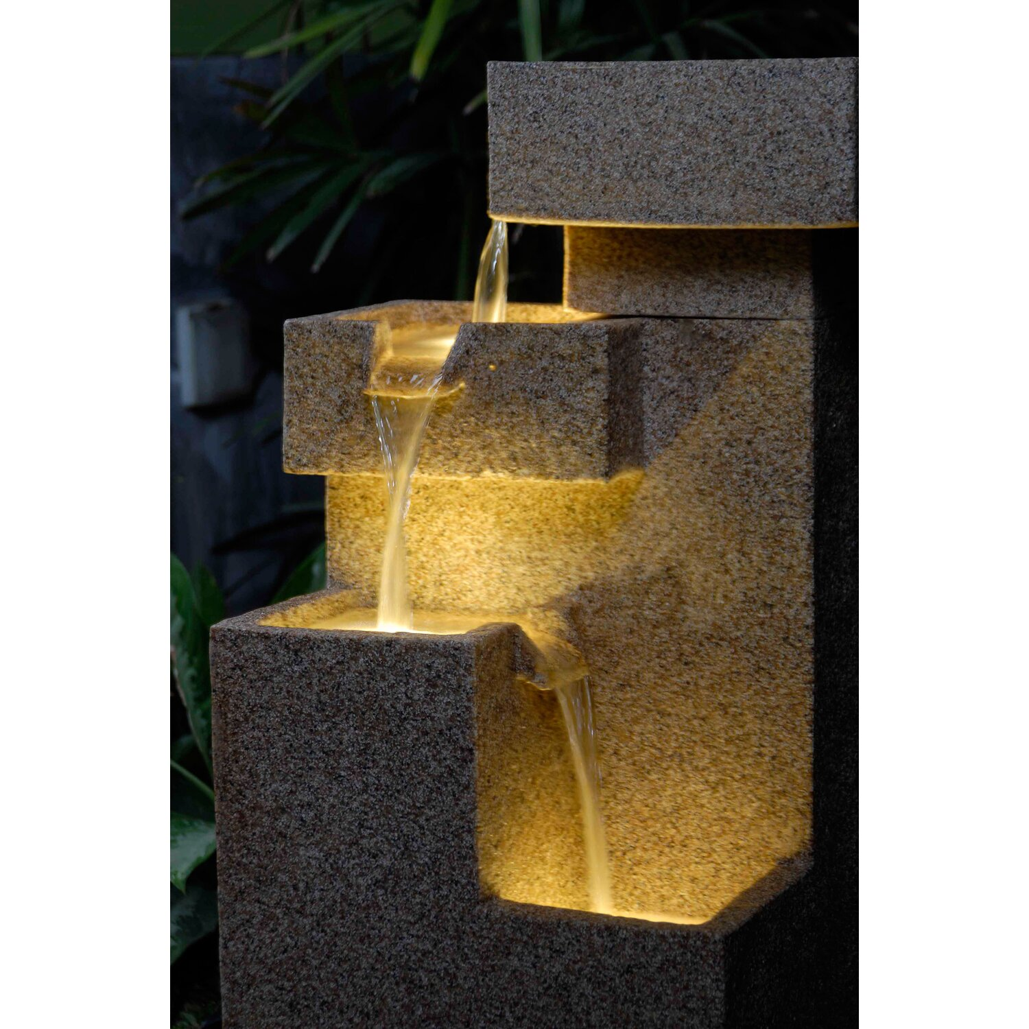Q Stone Inc Jeco Inc Sand Stone Tiered Fountain Fcl