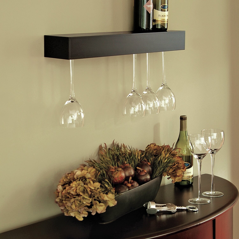Wine Glass Shelves Wall Mount Wall Mount Wine Glass Rack