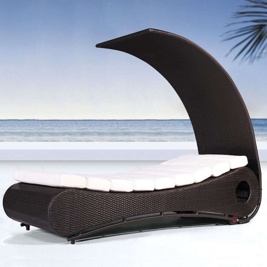 luxury cabana chaise lounge rattan wicker canopy sofa seat