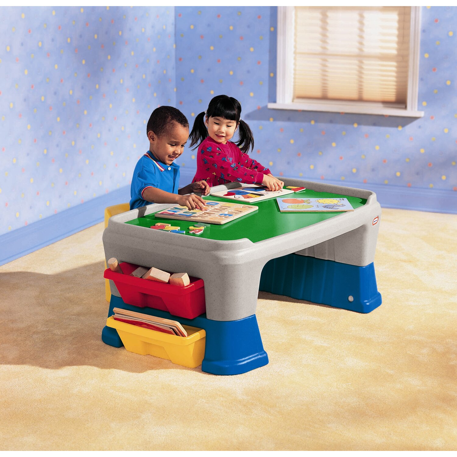 Easy Adjust Play Table - for  floor play and chair height setting