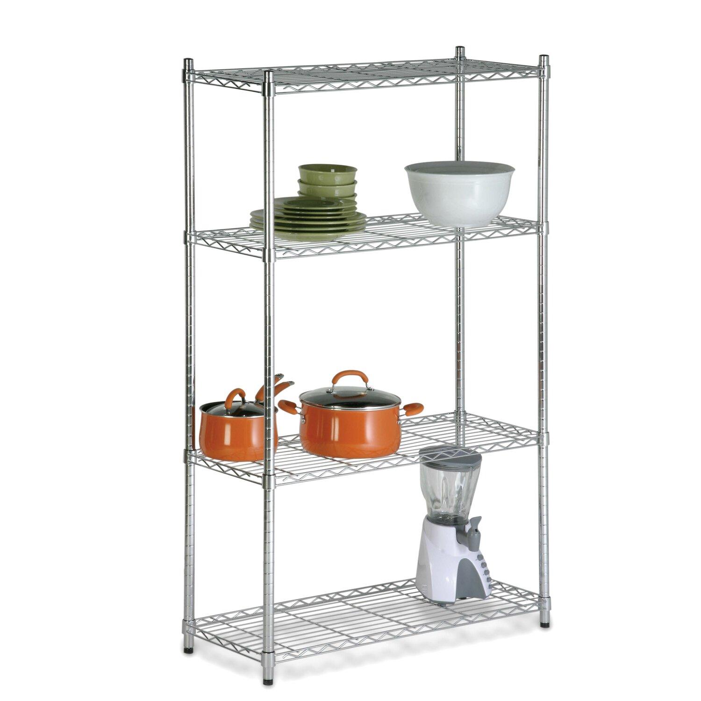 Chrome 4 Shelf Unit h 4 Shelf Shelving Unit