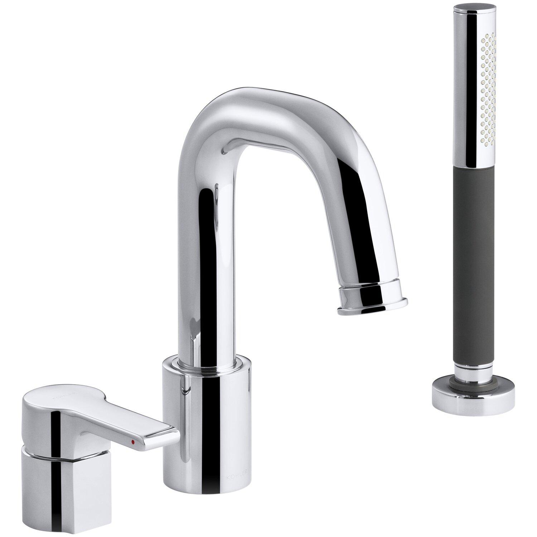 Zinc Alloy Handles Kohler Singulier Single Handle Deck Mount Tub Faucet