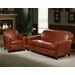 Omnia Furniture Buenos Aires Leather Loveseat