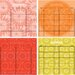 WallPops! Dry Erase 4 Piece Carnivalé Calendar Board Wall Decal