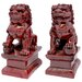Oriental Furniture 2 Piece Fu Dog Figurine Set