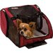 Snoozer Pet Products Wheel Around Travel Pet Carrier in Red