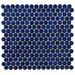 """EliteTile Penny 0.75"""" x 0.75"""" Porcelain Mosaic Tile in Blue Eye"""