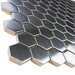 "EliteTile Metallic 1"" x 1"" Stainless Steel, Ceramic Mosaic Tile in Silver"