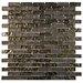 "EliteTile Sierra 0.5"" x 1.875"" Glass Mosaic Tile in Empire"