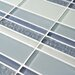 EliteTile Sierra Random Sized Glass Mosaic Tile in Meridian Cirrus