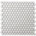 """EliteTile Retro 0.75"""" x 0.75"""" Porcelain Mosaic Tile in White"""