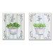 Stupell Industries Basil and Thyme in White Pots Kitchen Wall Art Set