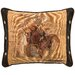 Wooded River Leather and Decorative Conchos Leather/Suede Throw Pillow