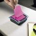 3M Designer Series Clear-Top Pop-Up Note Dispenser for 3x3 Self-Stick Notes, BLK