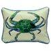 Coastal Male Crab Indoor/Outdoor Throw Pillow