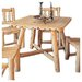 Rustic Natural Cedar Furniture Square Cedar Dining Table