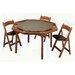 "Kestell Furniture 57"" Oak Contemporary Folding Poker Table Set"
