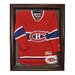 Caseworks International NHL Cabinet Style Jersey Display in Mahogany