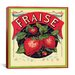 iCanvas Fraise Strawberries Vintage Crate Label Canvas Wall Art