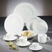 """Ten Strawberry Street Royal White 11"""" Dinner Plate"""