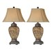 """Stein World Urn 32"""" H Table Lamp with Bell Shade"""