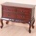 International Caravan Windsor Hand Carved 4-Drawer Wooden Console Table