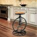 Home Loft Concepts Raylene Bicycle Wheel Adjustable Height Bar Stool
