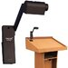 "AmpliVox Sound Systems Clip-on Gig 43"" H Table Lamp with Novelty Shade"