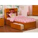 Atlantic Furniture Urban Lifestyle Newport Bookcase Bed with Storage