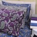 Simple Luxury Paisley and Solid Flannel Cotton Pillowcase