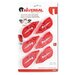 Universal® Correction Tape with Two-Way Dispenser, 6/Pack