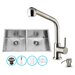 """Vigo All in One 32"""" x 19"""" Undermount Kitchen Sink and 13"""" Faucet Set"""