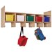 Steffy Wood Products 5-Section Wall Locker